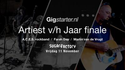 Finalisten Gigstarter Artiest v/h Jaar bekend!