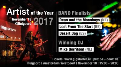 Finalists of Gigstarter Artist of the Year 2017 Belgium