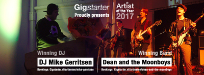 Ganadores de la competición: 'Gigstarter Artist of the Year 2017'
