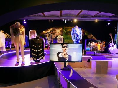 Omgetoverd in een fan tijdens de My Name is Prince expositie
