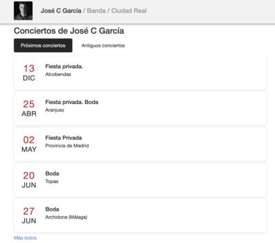 ¿Cómo se usa la agenda de Gigstarter?