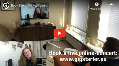 Boek een live online-optreden!