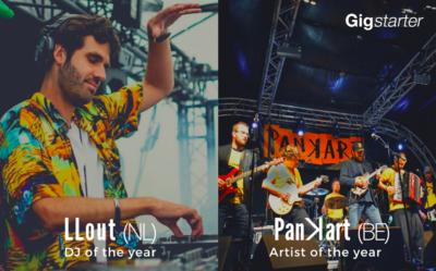 Les vainqueurs de la compétition de l'Artiste et du DJ de l'année 2020