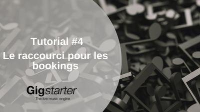 Le raccourci Gigstarter: la clé pour plus de concerts
