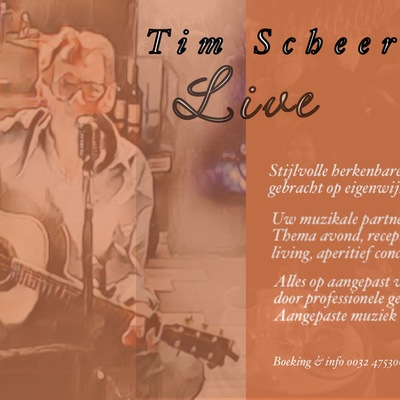 Tim Scheerlinck Live , Akoestisch, Britpop, Entertainment soloartist