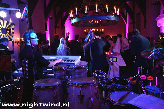 Coverband bruiloftband band nightwind percussionist