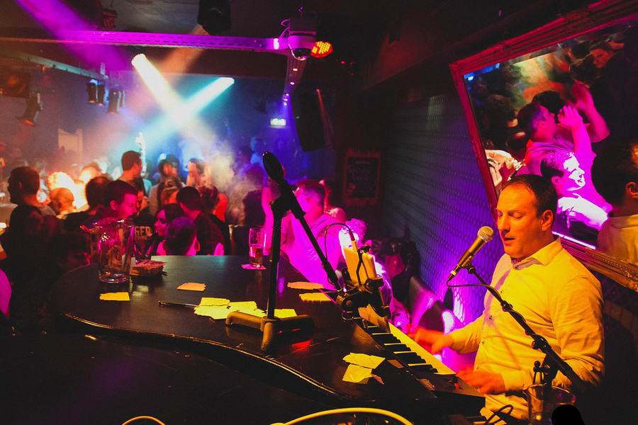 Moderne muziek discotheek