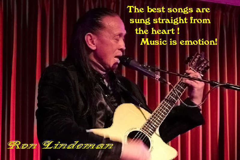 Ronlindeman the best songs are sung straight from the heartkopie