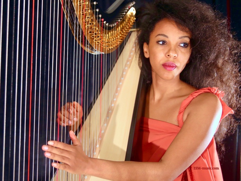 Zem a girl and her harp
