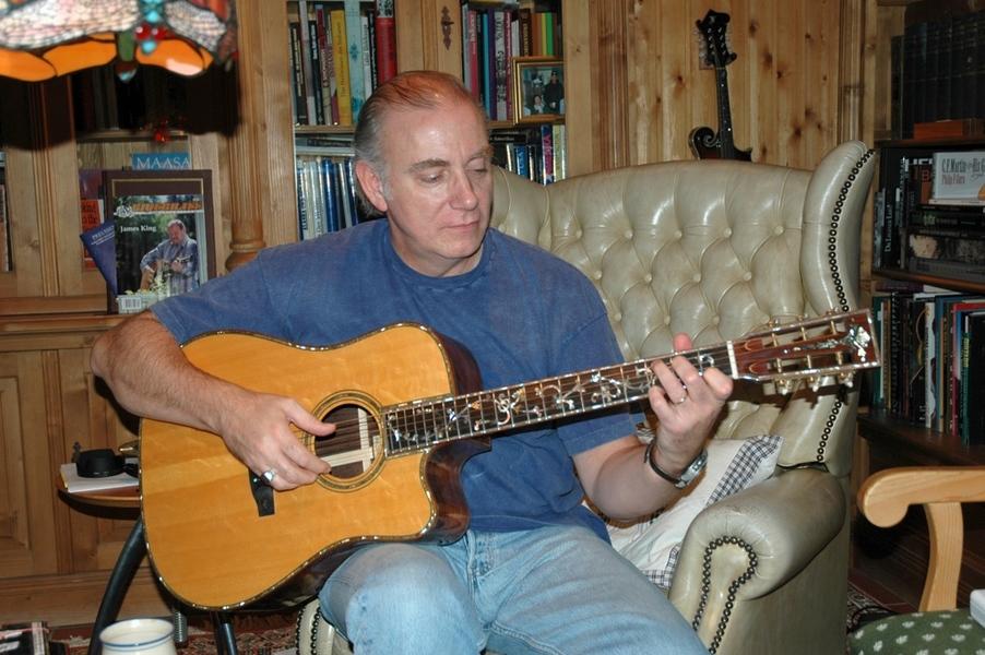 Jd playing his stevens custom guitar