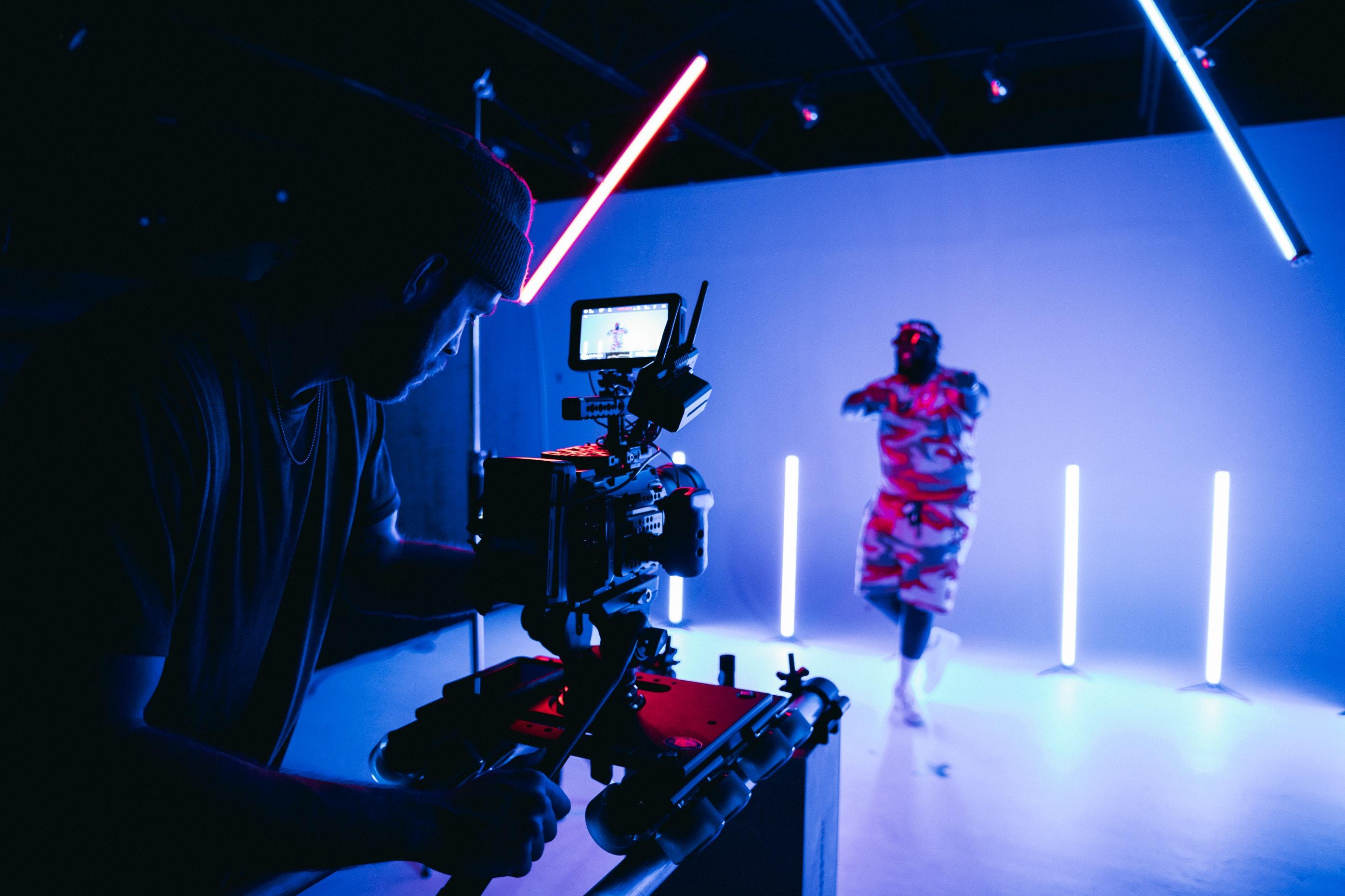 Behind the scenes muziek video