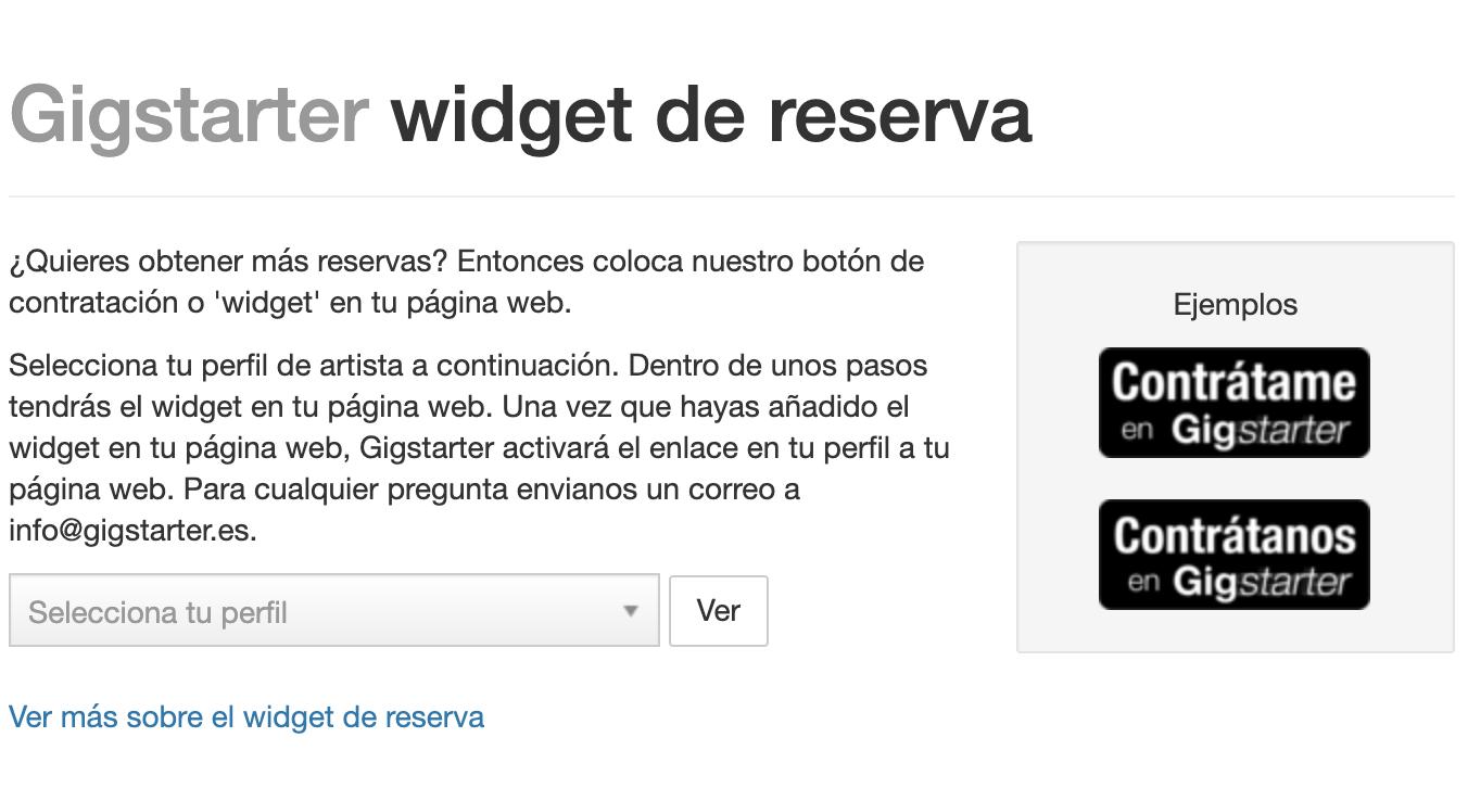 El boton de reserva